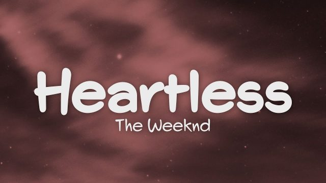 heartless- the weekend